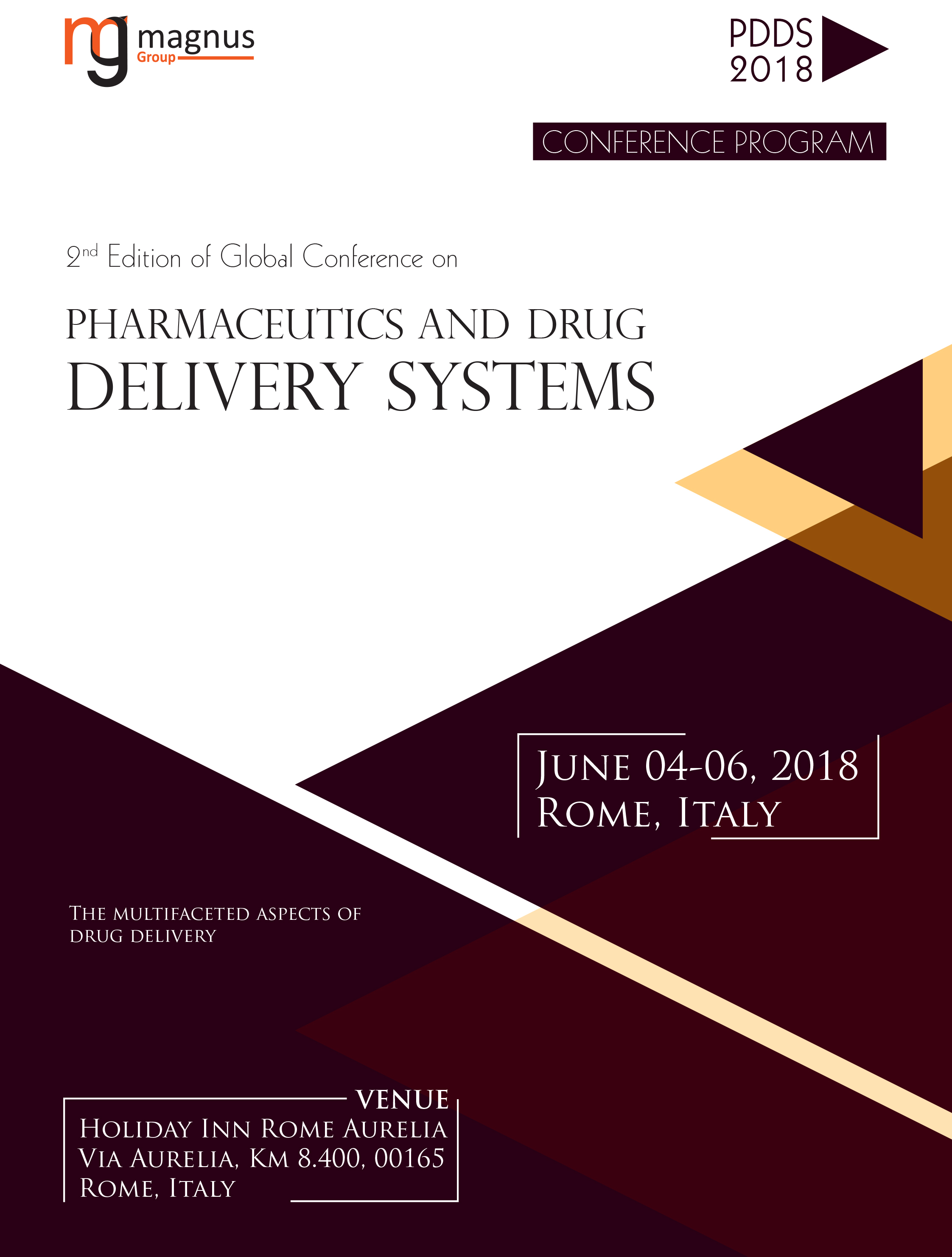 Global Conference on Pharmaceutics and Drug Delivery Systems | Rome, Italy Program