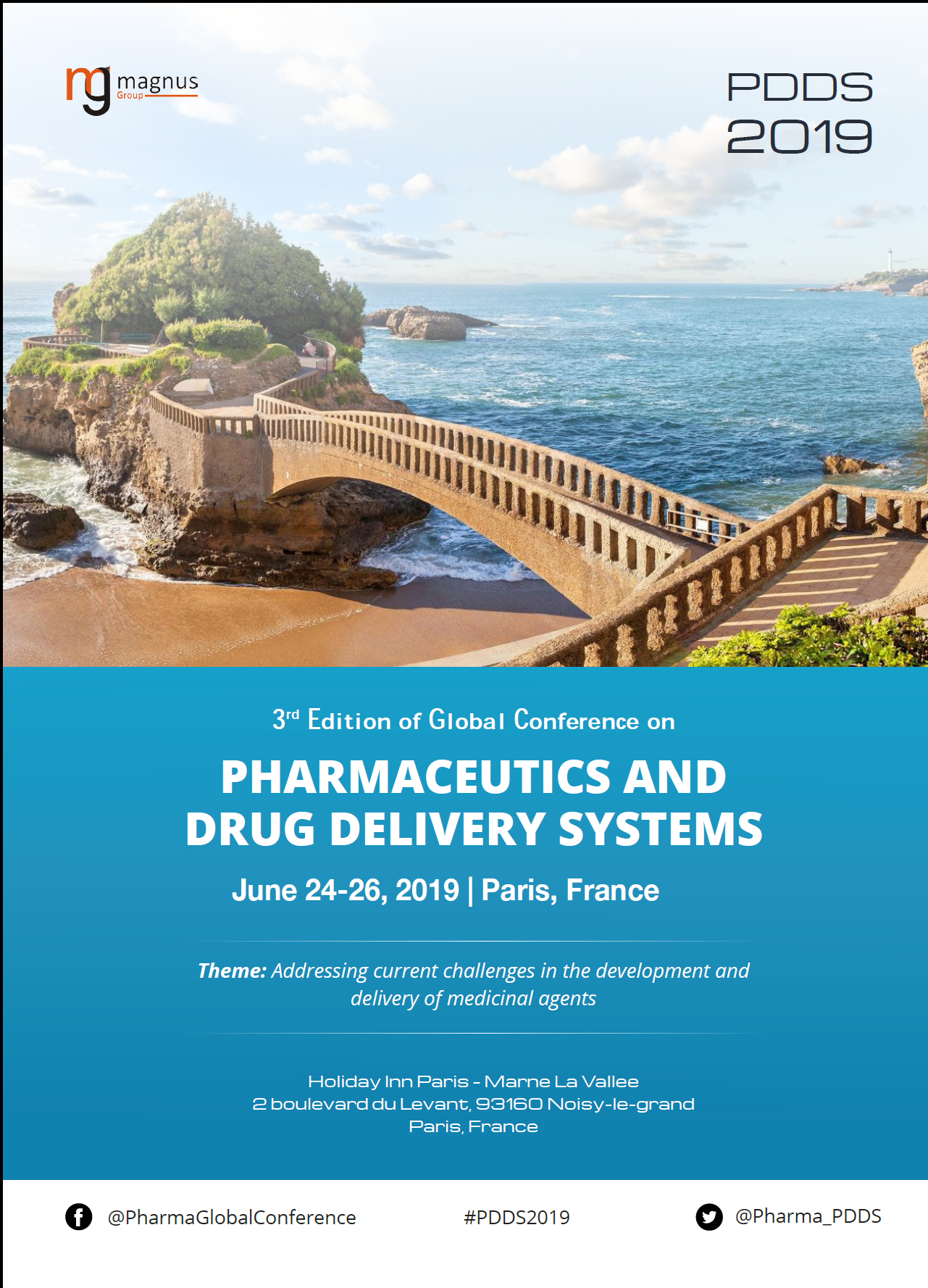 3rd Edition of Global conference on Pharmaceutics and Drug Delivery Systems | Paris, France Program